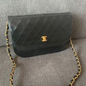 Chanel Vintage Double Flap Bag in Black, Gold HW